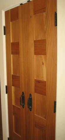 urban salvage cypress door