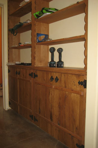 salvage oak bookcase