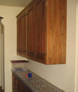 salvage redwood cabinet